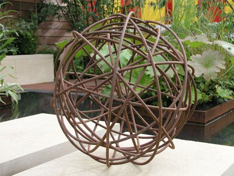 Rusted mild steel sphere, Moore Design
