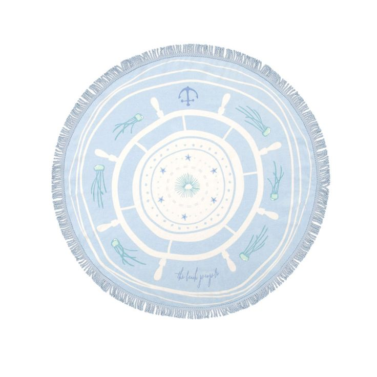 top3 by design - The Beach People - round towel captain petite