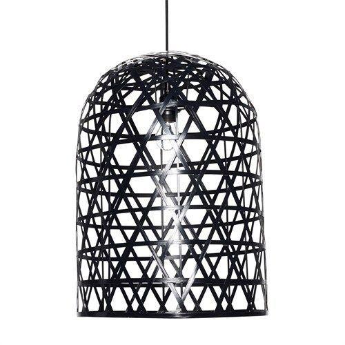 Hubsch Interior Hanglamp Zwart/Bamboe - 42xH60 cm - Sweet Living Shop