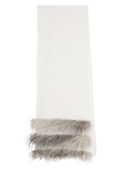 Fabiana Filippi Fabiana Filippi Cashmere Scarf with Genuine Fox Fur Trim available at #Nordstrom