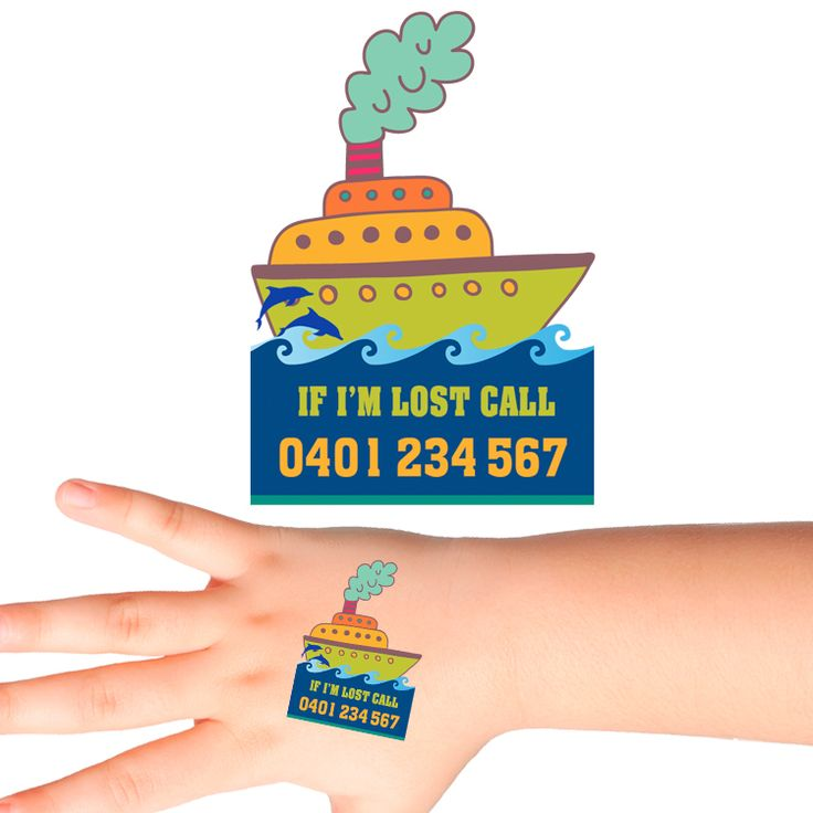Ship Personalised Safety Tattoos #508 (16 pack)