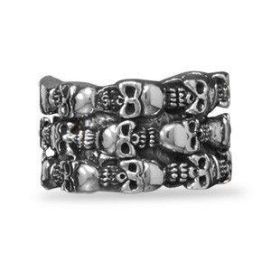 Men's Sterling Silver Skull Ring – Tribal Native LA http://www.tribalnative.com/products/mens-sterling-silver-skull-ring