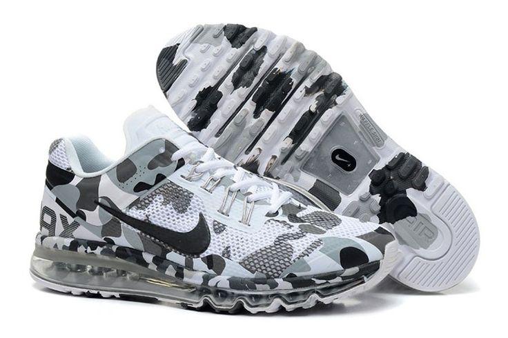 Nike Air Max 2013 CAMO Männer Grau Schwarz Weiß
