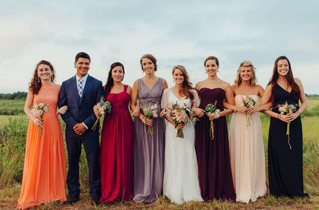Hamptons wedding party