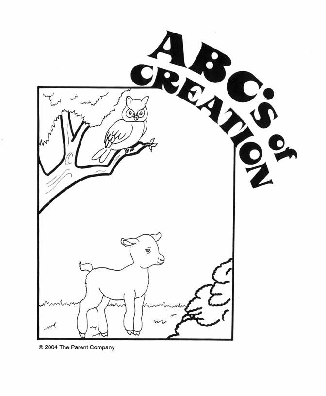 catholic coloring pages creation story - photo#31