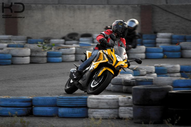 Professional Motorbike rider. By Kaizad Darukhanvala who is studying to get his Degree in Photography.