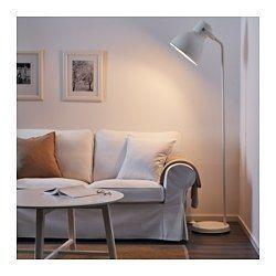 IKEA - HEKTAR, Staande lamp, , De oversized lampenkap geeft goed, geconcentreerd licht om bij te lezen en een goede algemene verlichting voor kleinere gebieden.Door de verstelbare kop is het licht gemakkelijk te richten, bijvoorbeeld op je boek als je leest, op het plafond voor algemene verlichting of op een bepaald gebied in de kamer.