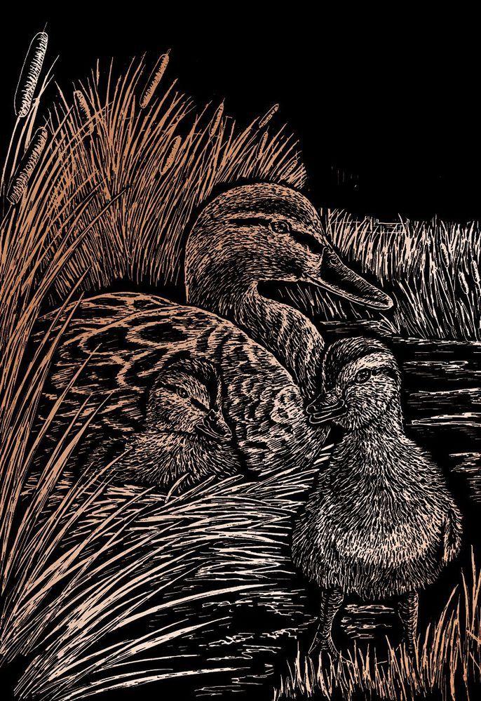 Royal & Langnickel® Engraving Art Set Copper Foil Ducks (model COPF19), Category: Engraving Art