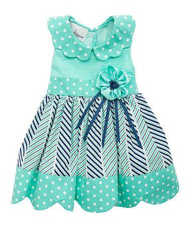 Love this Mint Polka Dot Dress - Infant, Toddler