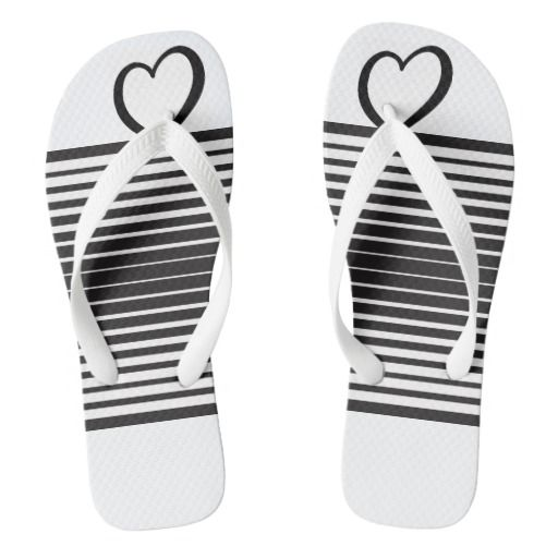 Black and white stripe flip-flop