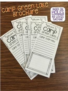 Holes Brochure: Welcome to Camp Green Lake Based on the book by Louis Sachar