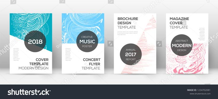 Cover page design template. Modern brochure layout. Comely trendy abstract cover page. Pink and blue grunge texture background. Shapely poster.layout#brochure#trendy#Comely