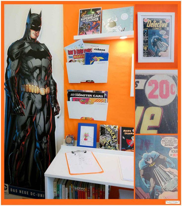 Batman Zimmer Dekotration Kinderzimmerschreibtisch Fur Kleine Raume Schreibtisch Mit Viel Stauraum Selber Bauen