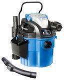5-Gallon Wall-Mountable Wet/Dry Vacuum, Blue