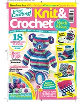 Ravelry: Let's Get Crafting Knit & Crochet #43 my teddy pattern on front cover! @rosecottcrafts