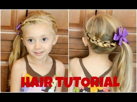 Braided Side Ponytail | 10 Easy-to-Master Hairdos For Your Impatient Toddler