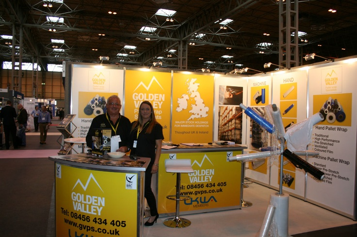 Colin Griffiths at his stand Golden Valley Pallet wrap specialists at PPMA 2012