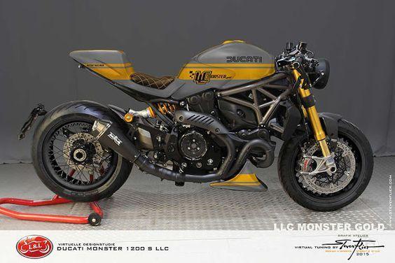 Ducati Monster 1200 S LLC Cafe Racer by GRAFIK ATELIER STEVEN FLIER #motorcyclesdesign #diseñodemotos |