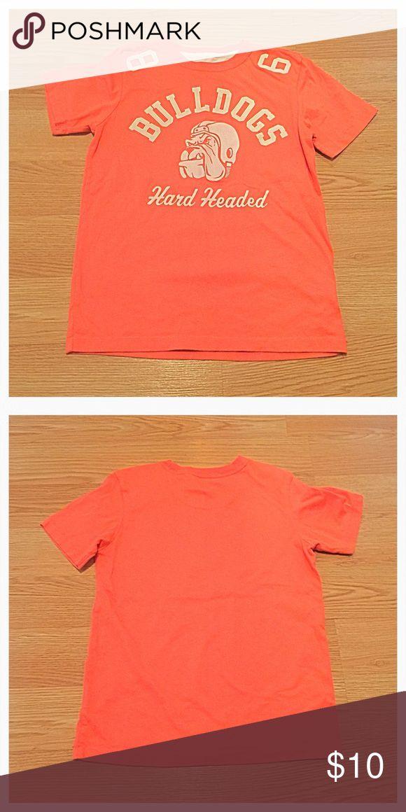 {Gap} Bulldogs Orange T-shirt, M {Gap} Bulldogs Orange T-shirt, M. Light pilling when viewed up close, priced accordingly. GAP Shirts & Tops Tees - Short Sleeve