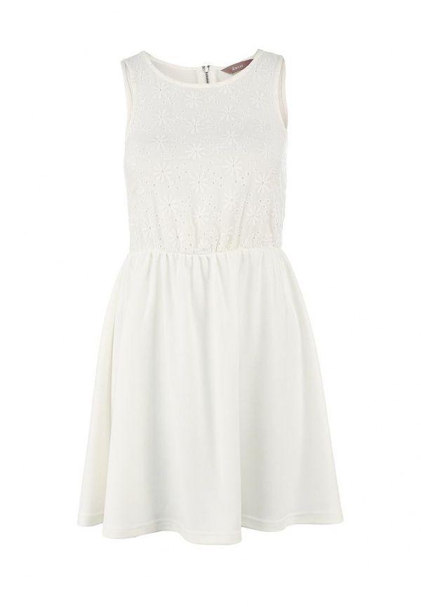 Платье A Wear женское. Цвет: белый. Сезон: Весна-лето 2013. С бесплатной доставкой и примеркой на Lamoda. http://j.mp/1l4aOFJ