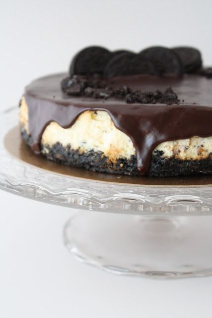 Oreo cheesecake--but I used my cheesecake recipe:  4 8oz cream cheese, 1 cup sugar, 1/2 tsp vanilla.  Mix well with electric mixer. Add 4 eggs, mixing well after each egg added. Pour into crust. Sprinkle with 10 chopped Oreos. Bake at 350 for 40 minutes.