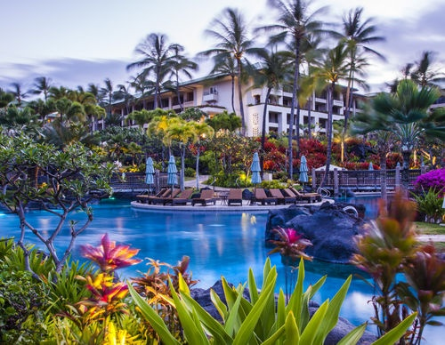 Grand Hyatt Kauai Resort and Spa offers 50 acres of luxury and fun with hidden gardens, several pools, and a scenic saltwater lagoon!