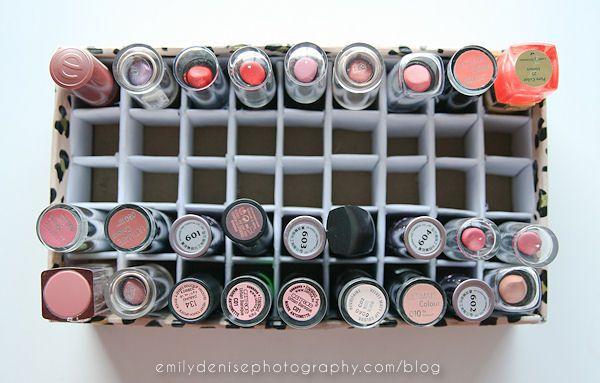 shoe box to lipstick and nail polish box