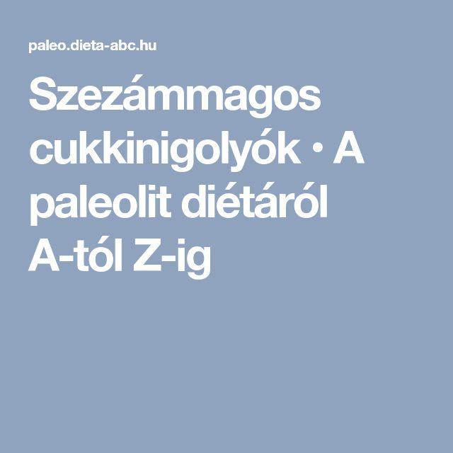 Szezámmagos cukkinigolyók • A paleolit diétáról A-tól Z-ig