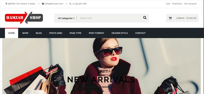 Hamzah Shop WordPress Theme (  WooCommerce 3  )