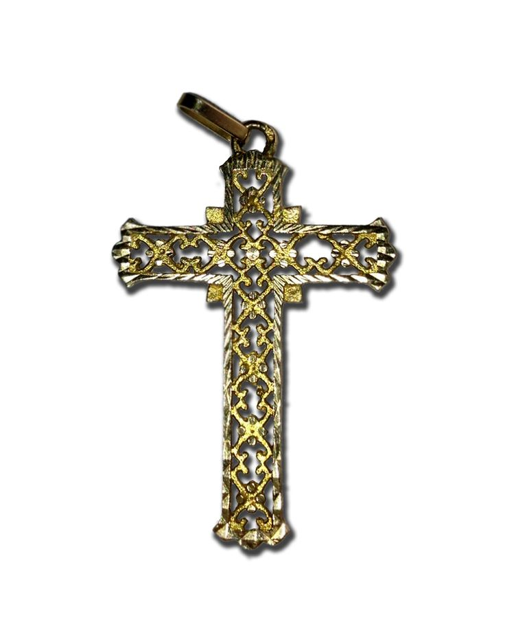Pendentif en forme de croix or jaune Poids total : 2,90 grs