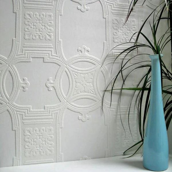 Sample Early Victorian Paintable Textured Wallpaper design