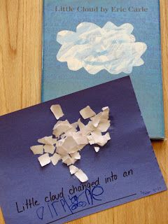 """""""Little Cloud"""" by Eric Carle w/activity"""