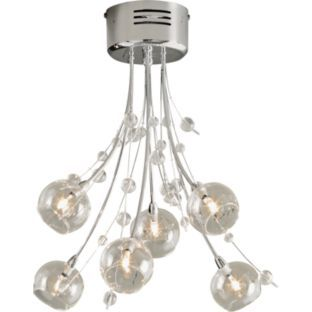 Buy Heart of House Sophie Nero 6 Light Ceiling Fitting - Chrome at Argos.co.uk - Your Online Shop for Ceiling and wall lights. #ArgosRoomInspiration