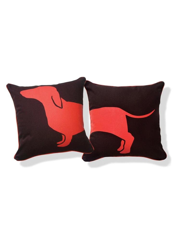 Naked Decor - Happy Hot Dog Pillow/Orange | VAULT