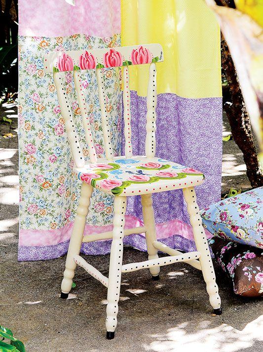 Cadeira pintada à mão / DIY, Craft
