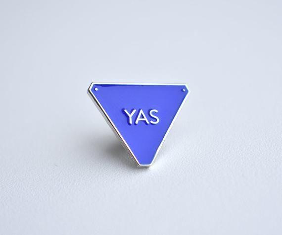 YAS Magic 8 Ball Funny Enamel Pin | Etsy | Word Art Enamel Pins in