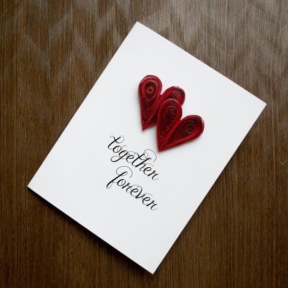 Anniversary Card Custom Anniversary 5th Anniversary Card Etsy 1st Anniversary Cards Valentine Cards Handmade Anniversary Greeting Cards