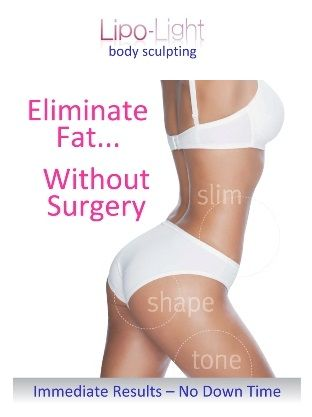 Lipo Light is a great way to sculpt your body without any surgery!