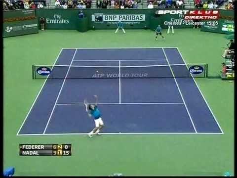Highlights Federer vs Nadal semifinal Indian Wells 2012. 6-3, 6-4.