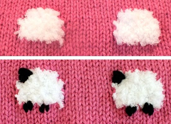 Finishing the Sheep on the Baby Blanket                                                                                                                                                                                 More
