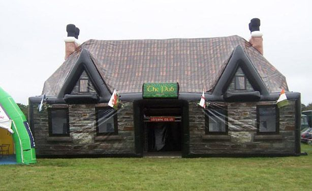big kid bouncy castle = inflatable pub.