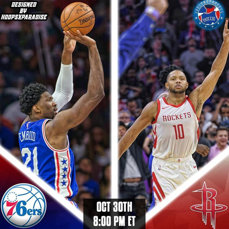 Its Gameday: The #Sixers (2-4) travel to Houston Texas to battle the #Rockets (5-2) as they look for their 2nd win of the season!   8 pm ET Toyota Center  NBCSP97.5  Injury Report: R. Holmes (out-wrist) M. Fultz (out-shoulder) J. Redick (questionable-lower back tightness) Correctly predict the final score of tonights game to win a shoutout.
