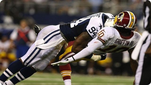 DESTINED FOR THE RING OF HONOR: Right or wrong, releasing DeMarcus Ware had to be difficult | Special feature; REDSKINS at COWBOYS - NFL NFC East Rival - 2013-2014 Dallas Cowboys schedule - Washington Redskins vs Dallas Cowboys - DeMarcus Ware sacking RG3