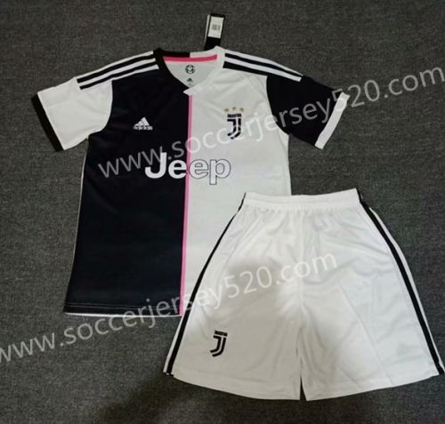 63fcc03db 2019-20 Juventus Home Black White Soccer Uniform