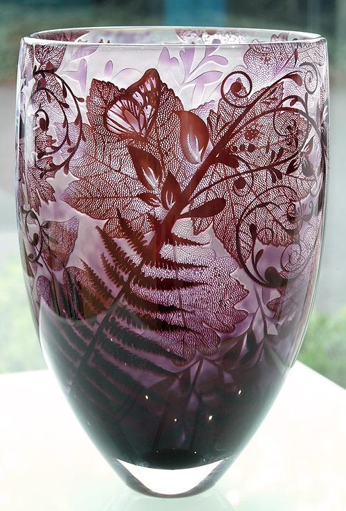 Mulberry Intrinsic Cameo Vase  Jonathan Harris ~ Artist