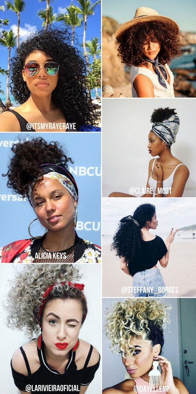 Como cuidar de cabelos cacheados no verão: No verão os cachos estão constantemente expostos ao sol e calor. Não importa se seu cabelo é ondulado, cacheado ou crespo, toda essa exposição fragiliza e resseca todos os tipos de cachos, pois retira a umidade necessária dos fios. Hidratação para cabelos cacheados, tratamento e penteados para cabelos cacheados e cabelos cacheados curtos. Curly hairtyles summer #cabeloscacheados #cabeloscrespos #curlyhair #curlygirl #cacheadas #cachos #nopoo #lowpoo