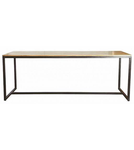 "Housedoctor Table ""Form"" iron / wood black / brown 200x80x74cm - Wonen met LEF!"