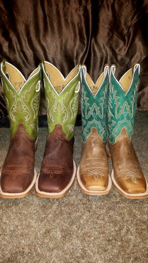 Justin square toe boots! I have the ones on the right on today!! ♥ them!