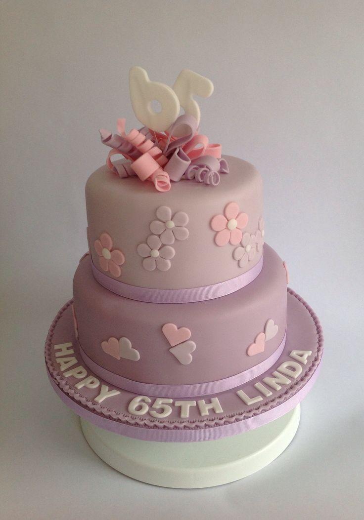 2 tier 65th birthday cake