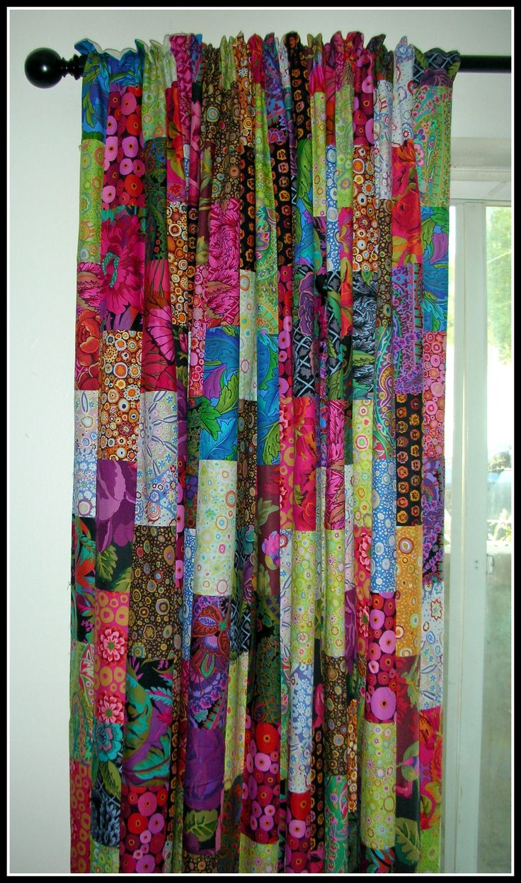 Delightful Patch Work Curtains   Google Search